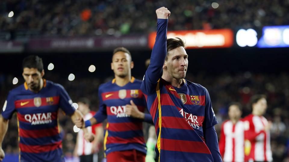 Leo Messi a deschis scorul în victoria clară, 6-0, contra lui Bilbao Foto: Barcelona/Facebook