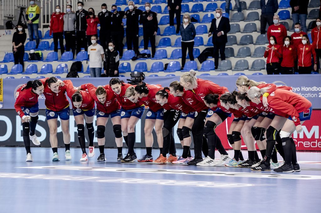 Meciul de handbal feminin dintre Romania si Muntenegru din Turneului Preolimpic, disputat la Podgorica, duminica 21 martie 2021. © FOTO:Sorin Pana/Sport Pictures